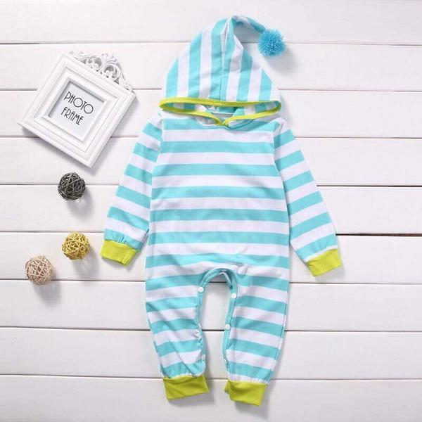 Striped Baby Pajamas