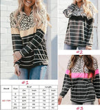 Shannan stripe and leopard sweat shirt
