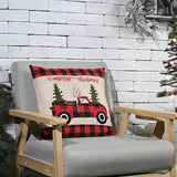 Christmas truck placemat, tree skirt, stocking, seat cover, table runner