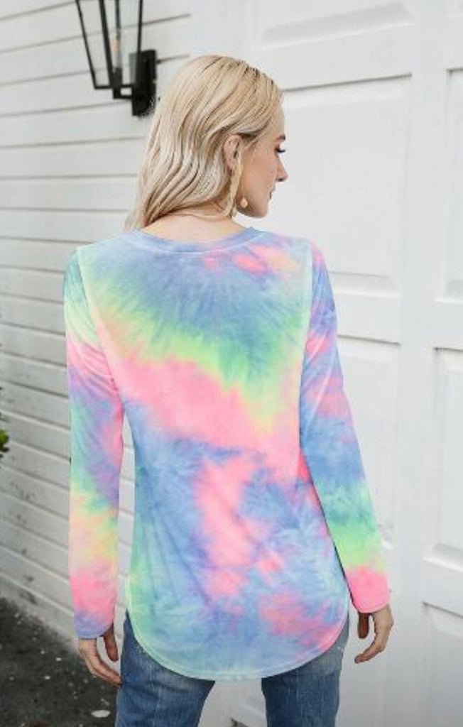Tammy long sleeve vneck top