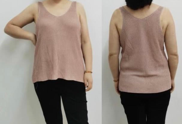 Knitted sleeveless tank sweater