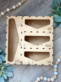 Wooden storage bag baggy organizer Rae Dunn Font