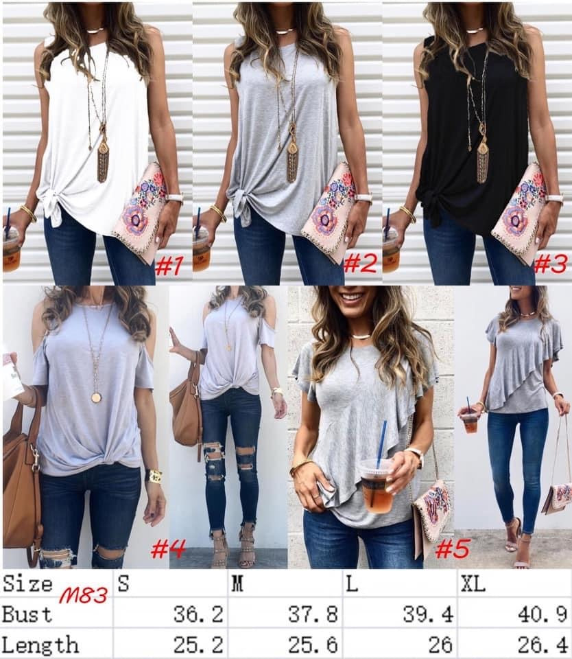 Lillie plain summer top