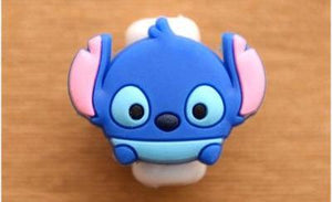 1 Set (5 Pieces) of Cute Character iPhone Cable Protectors - Variant: S16 - Bubble vs. Gum