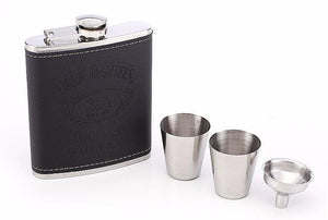 Luxurious Stainless Steel Hip Flask Set - Bubble vs. Gum