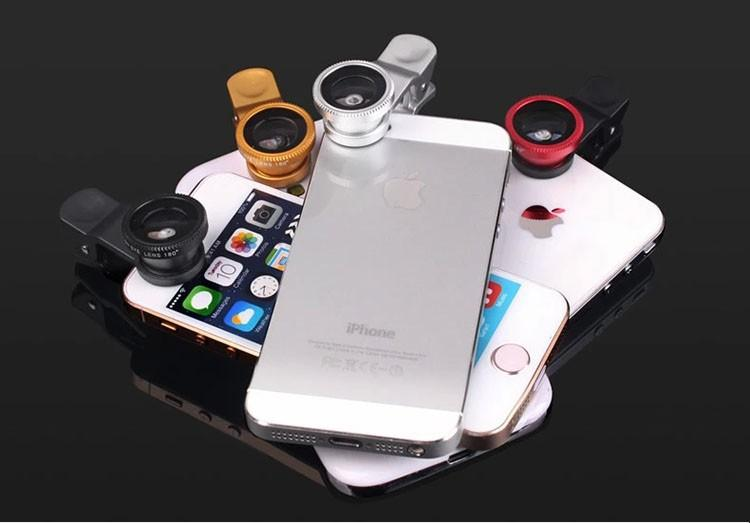 Pro Camera Kit for Smartphones (Fisheye + Wide Angle + Macro Lens)-Bubble vs Gum
