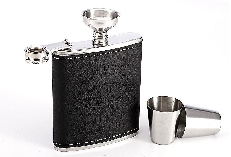 Luxurious Stainless Steel Hip Flask Set-Bubble vs Gum