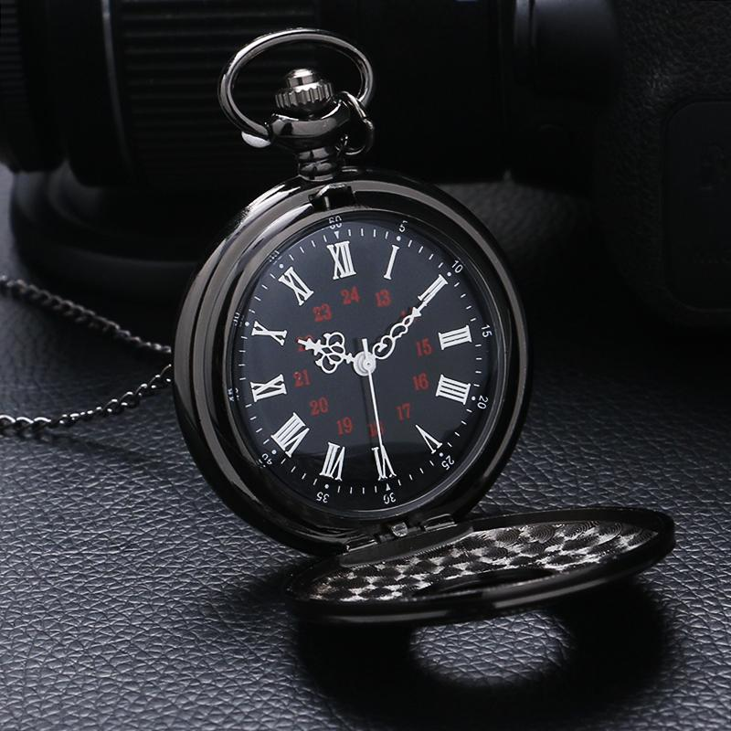 Black Vintage Charm Pocket Watch - Bubble vs. Gum