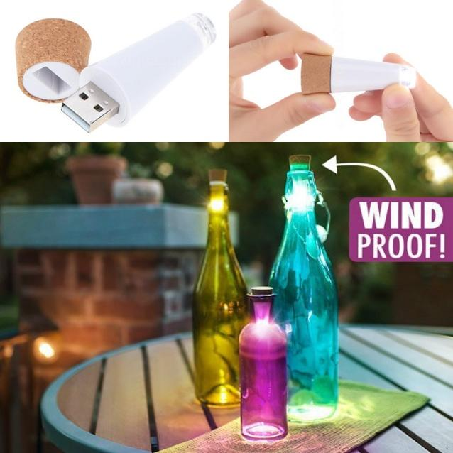 Rechargeable LED Light Wine Cork-Bubble vs Gum