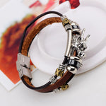 Tibetan Dragon Leather Bracelet-Bubble vs Gum