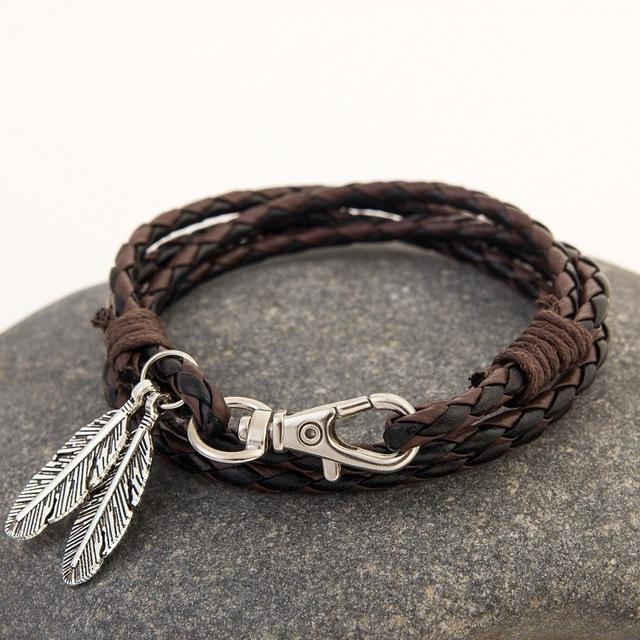 Multi-layer Feather Unisex Bracelet (13 Colors)-Bubble vs Gum