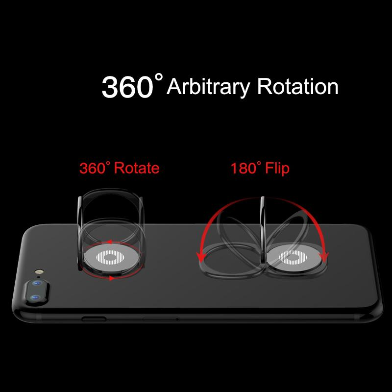 360-Degree Phone Finger Ring - Suitable for Car Magnetic Mount - Bubble vs. Gum
