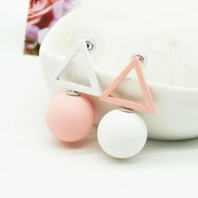 Color Candy Geometric Stud Earrings (10 Styles) - Bubble vs. Gum