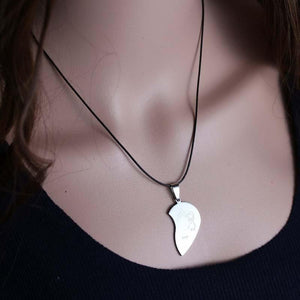 Love+You Stainless Steel Heart Necklaces (Both Pieces) - Bubble vs. Gum