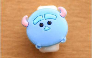 1 Set (5 Pieces) of Cute Character iPhone Cable Protectors - Variant: S3 - Bubble vs. Gum