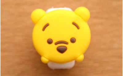 1 Set (5 Pieces) of Cute Character iPhone Cable Protectors - Variant: S15 - Bubble vs. Gum