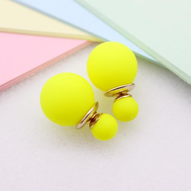 Simulated Pearl Reversible Stud Earrings-Bubble vs Gum