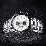 Luxurious Stainless Steel Quartz Watch-Bubble vs Gum