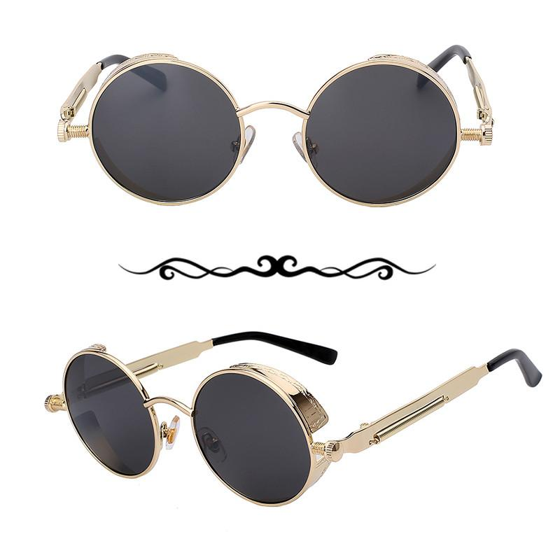 Steampunk Round Metal Sunglasses-Bubble vs Gum