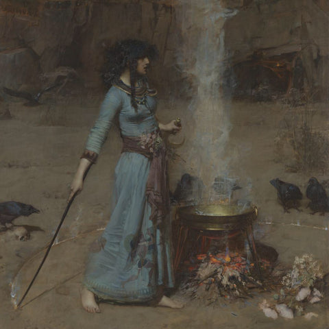 John William Waterhouse The Magic Circle