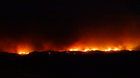 Ventura Hills burning - photo credit: b. rubrecht
