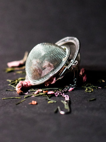 Herbal tea strainer photo by Melissa Harris