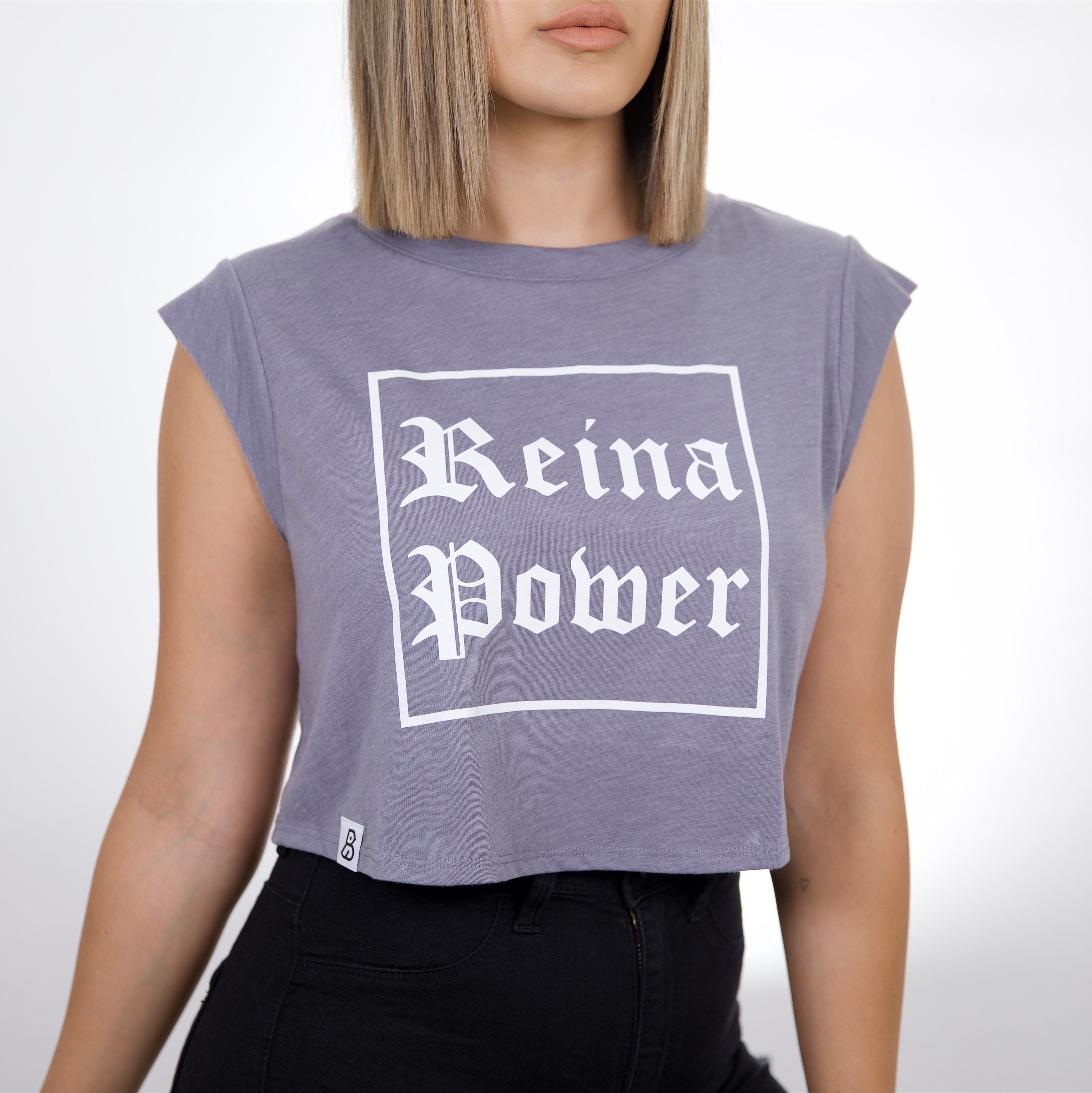 'Reina Power' Grey Cropped Tank