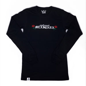 """Orgullosamente Mexicana"" Black Long Sleeve"