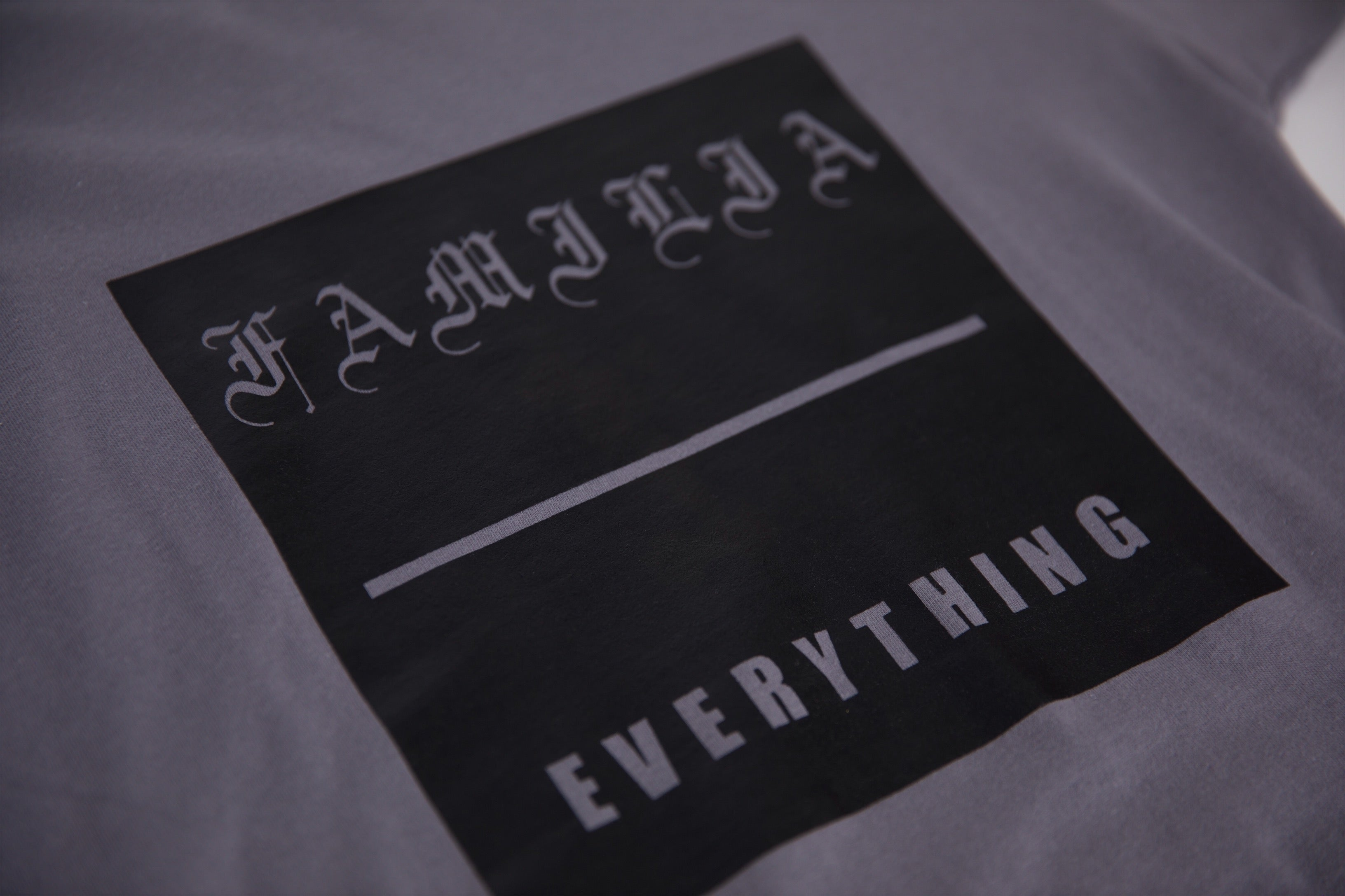 'Familia Over Everything' Grey Long Sleeve