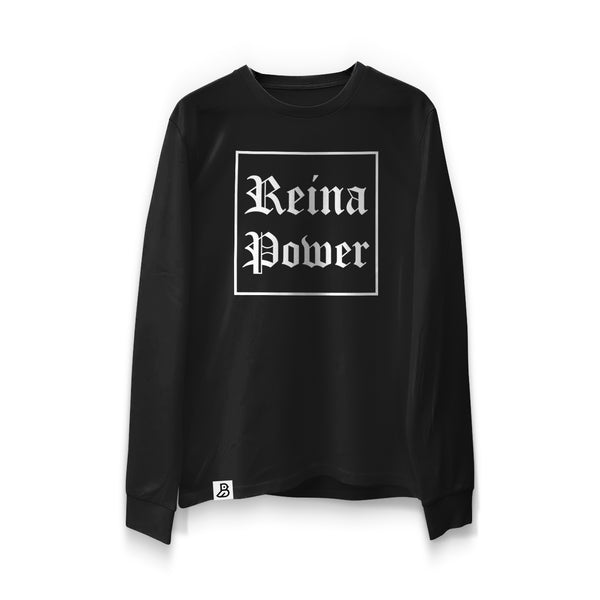 'Reina Power' Black Long Sleeve