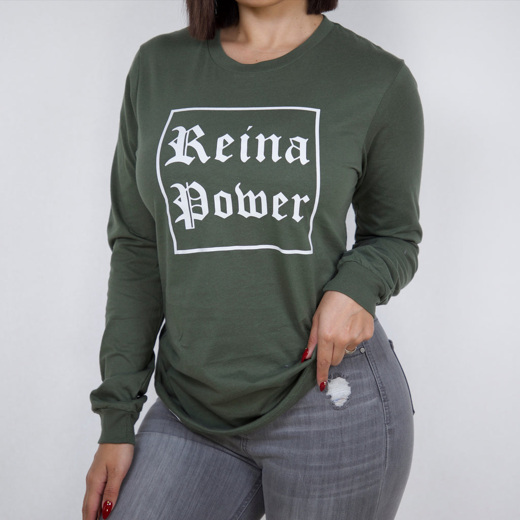 'Reina Power' Olive Long Sleeve