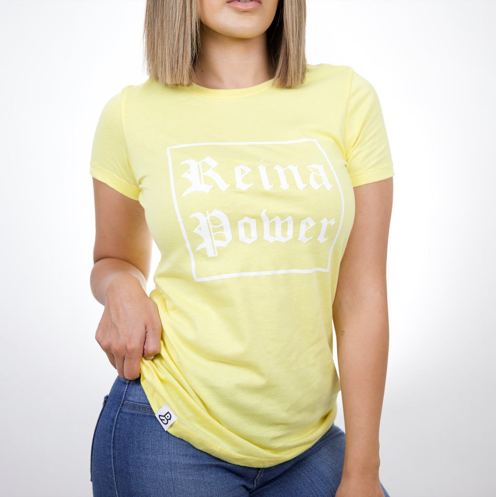 'Reina Power' Yellow T-Shirt