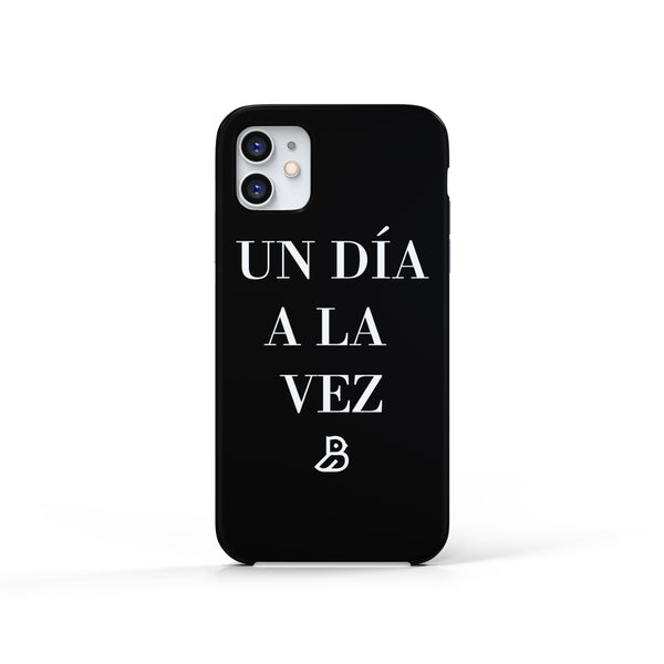 'UN DIA A LA VEZ' BLACK IPHONE CASE