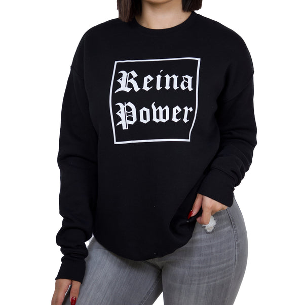 'REINA POWER' BLACK SWEATSHIRT