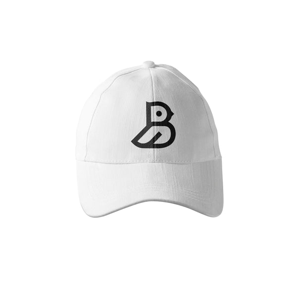 WHITE 'BIRD' LOGO DAD CAP