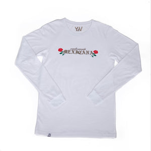 """Orgullosamente Mexicana"" White Long Sleeve"
