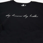 "Black ""Stay Dreamin' Stay Hustlin' "" Crop Sweater"