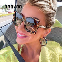 Oversize Square Sunglasse Women Vintage Black Big Frame Sun Galsses Luxury Brand Black Shades UV400 Fashion gafas de sol mujer