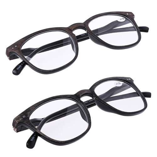 Fashion Wood Grain Reading Glasses Men Women Vintage Resin Lens Points for Male Reader 1.0 To 4.0