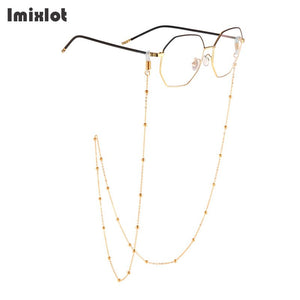 Imixlot Reading Glasses Chain For Women Metal Sunglasses Cords Beaded Eyeglass Lanyard Hold Straps Men Eyewear Accessories