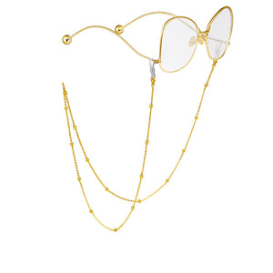 Reading Glasses Chain for Women Metal Sunglasses Cords Beaded Eyeglass Lanyard Hold Straps Men Eyewear Retainer