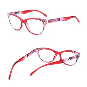 Cat Eye Women Reading Glasses Mens Resin Anti Fatigue Reading-glasses Brand Women's Glasses Transparent Spectacles