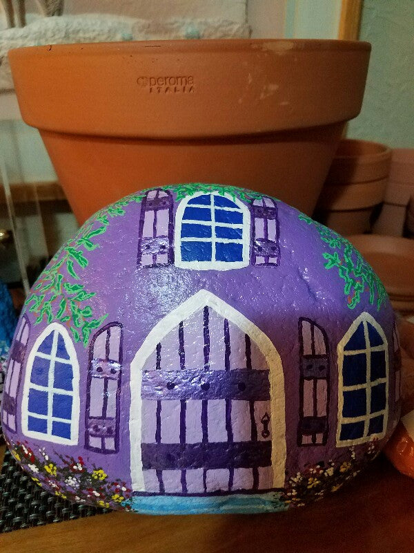 Painted Purple Rock Cottage