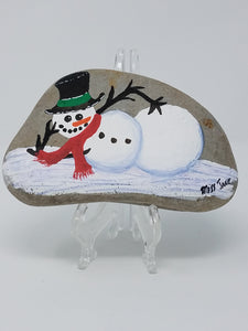 Happy and funny snowman