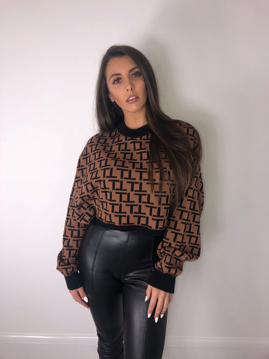 Fendi Inspired Batwing Jumper