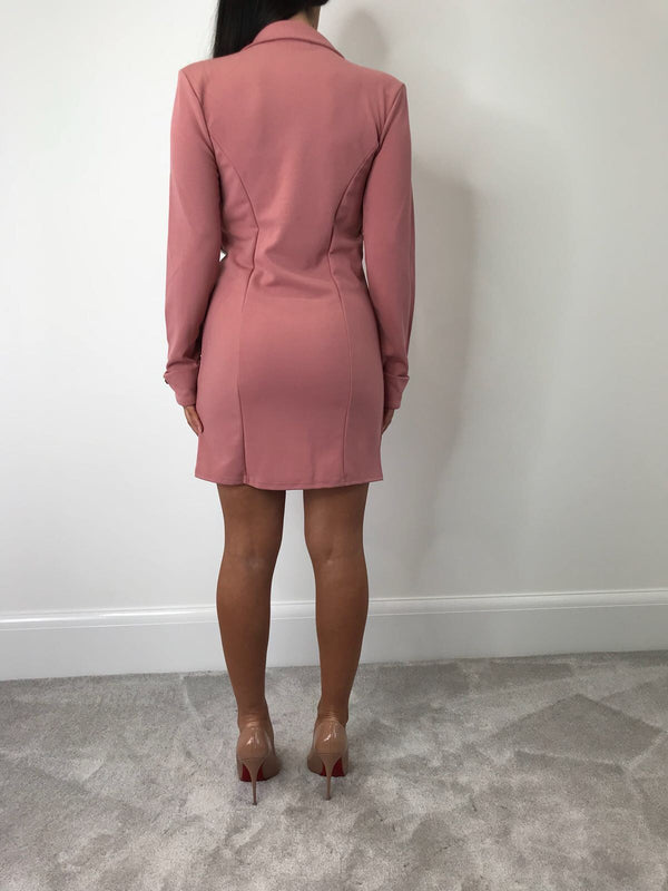 Blush Pink Blazer Dress