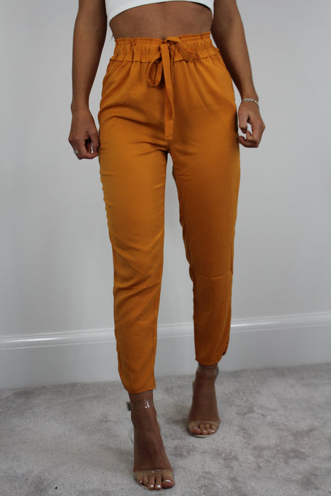 Orange High Waisted Straight Leg Trouser