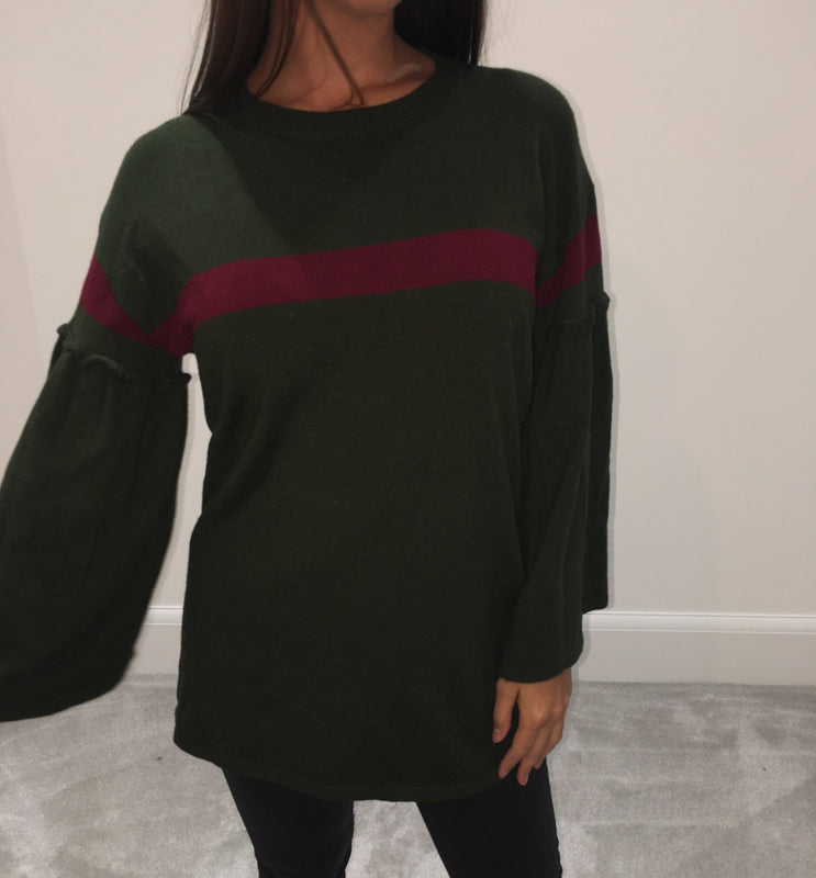 Gucci Inspired Flared Sleeve Jumper