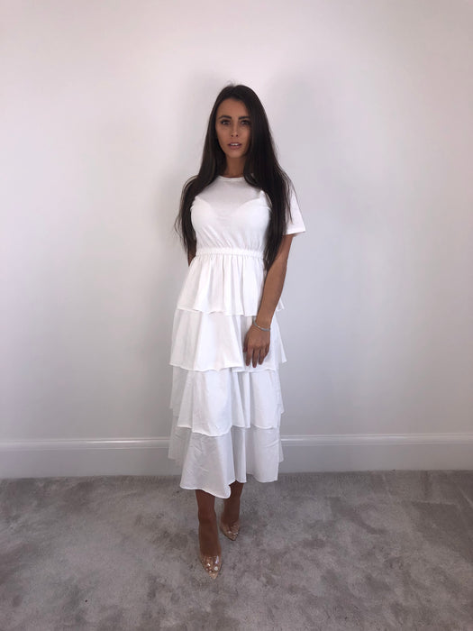 White Layer Dress