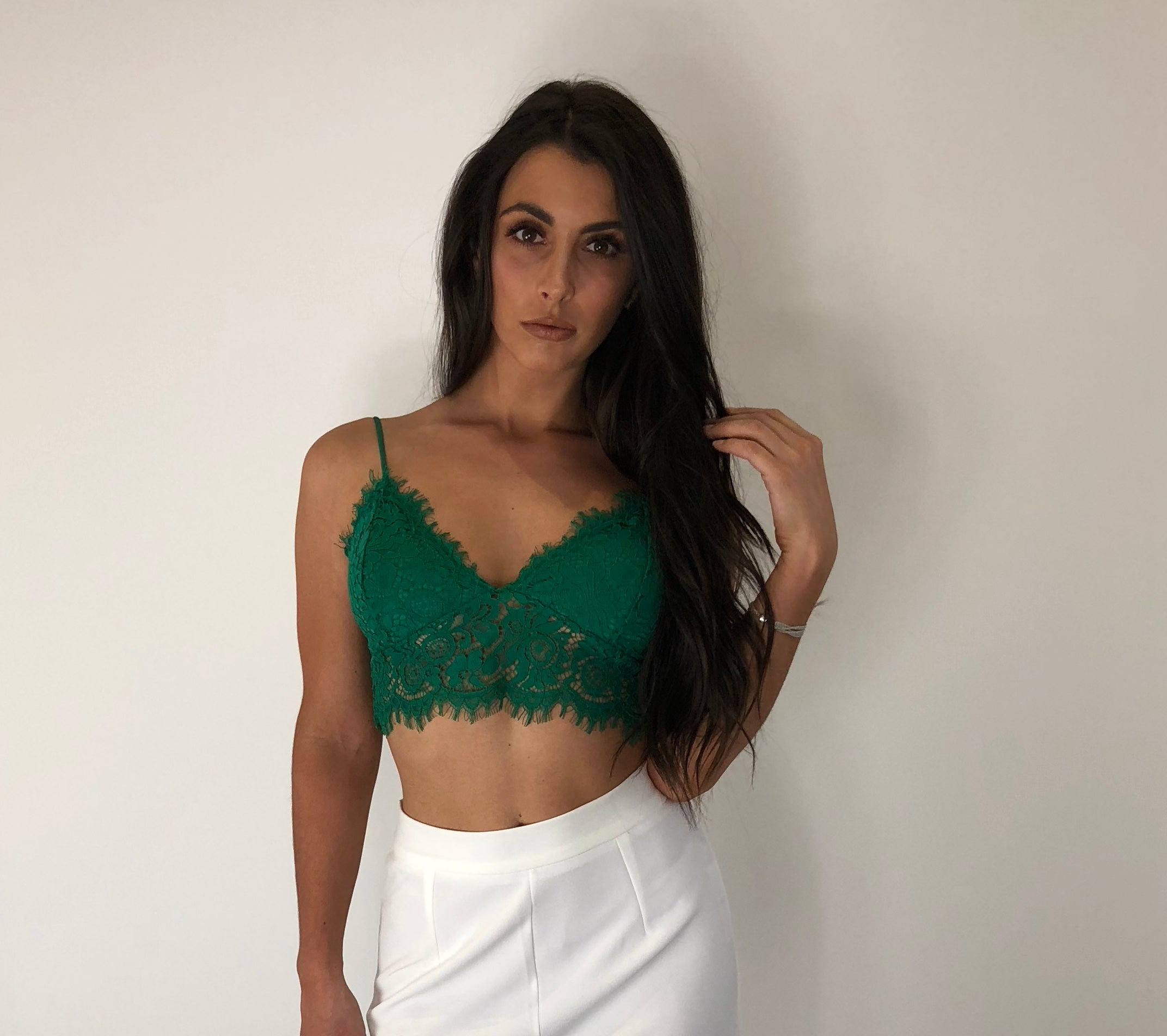 Green Lace Bralet